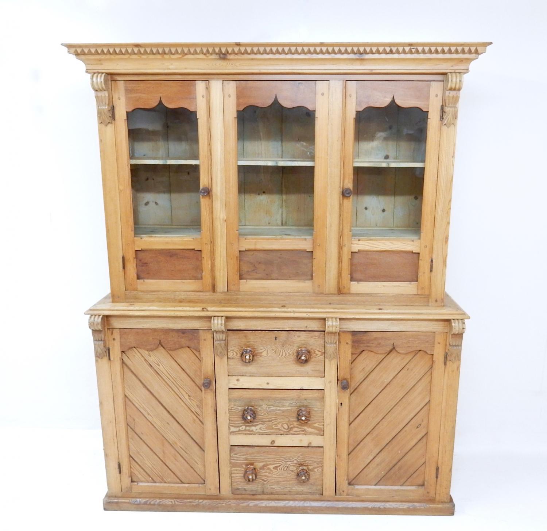 Antique Pine Kitchen Dresser