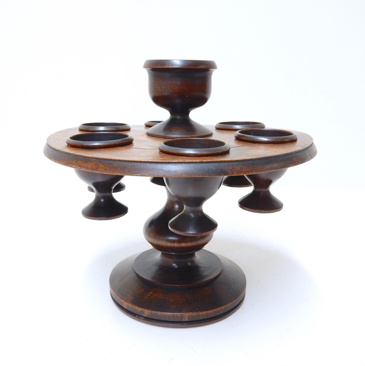 Treen Egg Cup & Stand