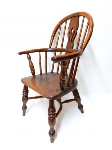 Antique Child's Windsor Armchair
