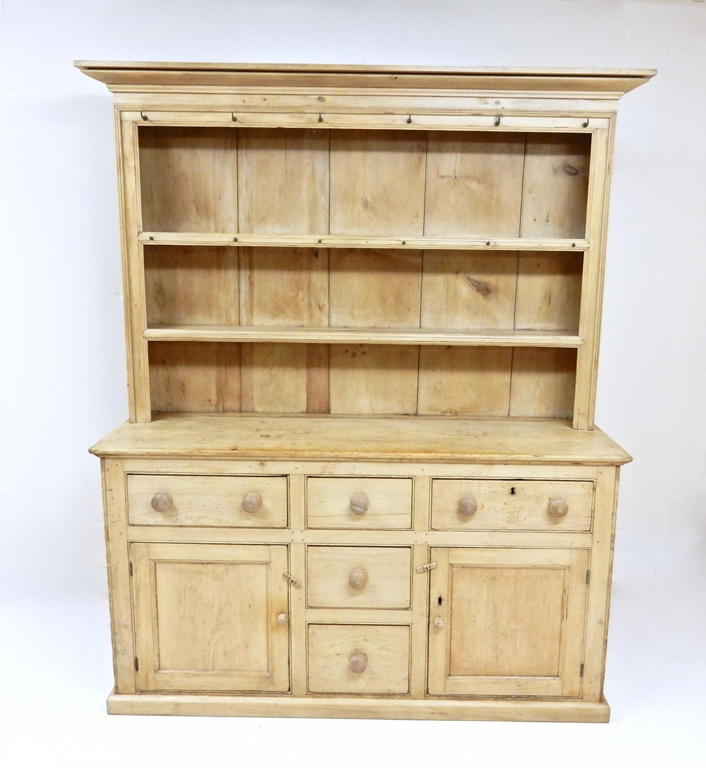 Antique Pine Kitchen Dresser In Sold