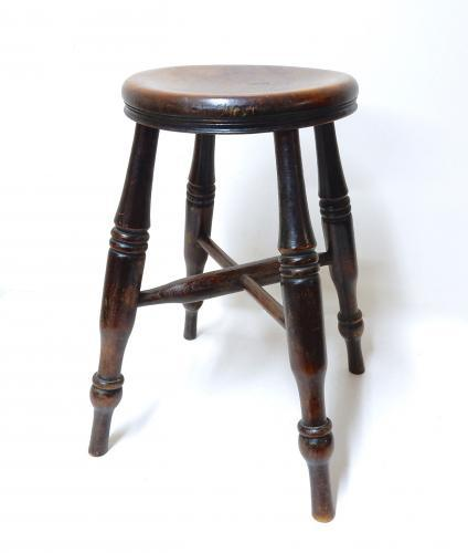 Low Antique Windsor Stool