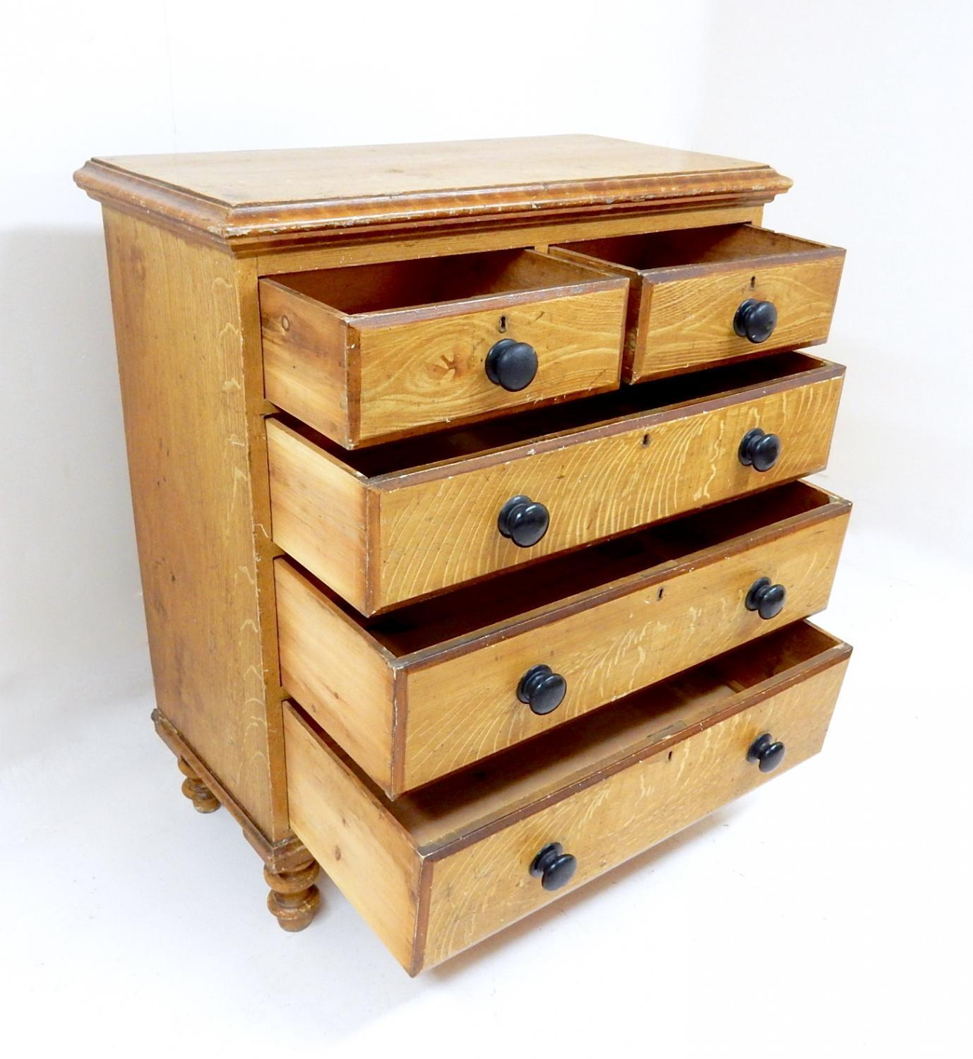 antique pine chest of drawers in storage. Black Bedroom Furniture Sets. Home Design Ideas