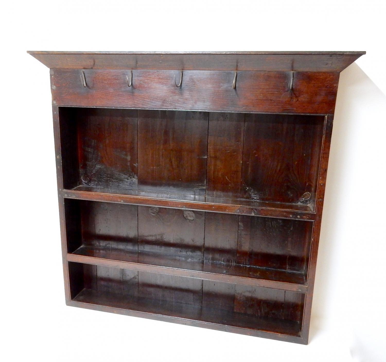 C18th Oak Wall Shelves