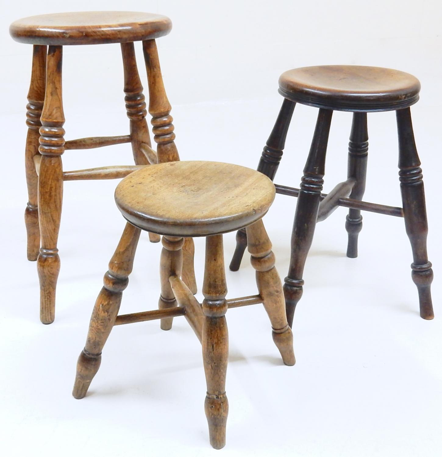 Small Antique Stool In Small Stuff