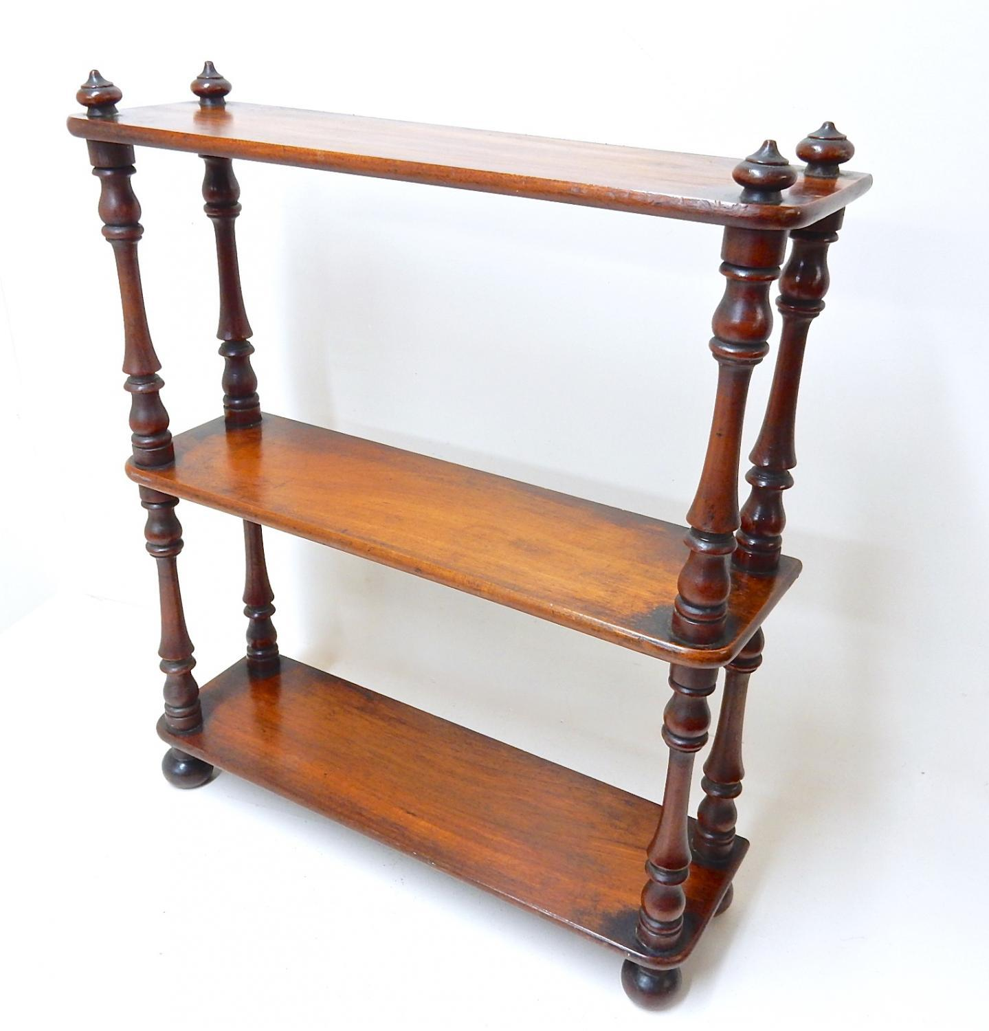 Small Mahogany Display Shelves
