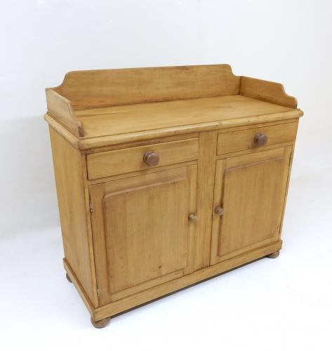 Antique Pine Cupboard Base