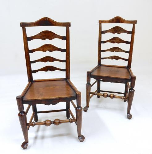 C19th Ladderback Chairs