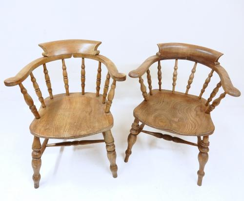 2x Antique Windsor Armchairs