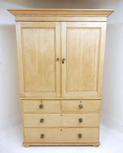 Antique Pine Linen Press