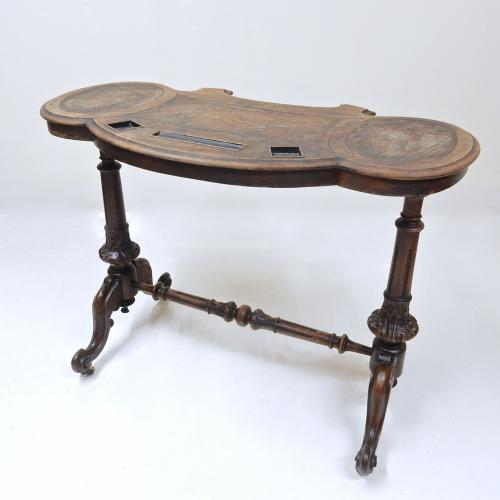 Antique Walnut Writing Table (in need of tlc)