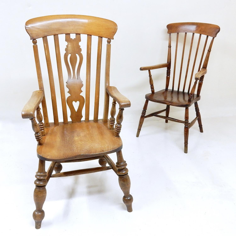 Large Antique Windsor Armchair