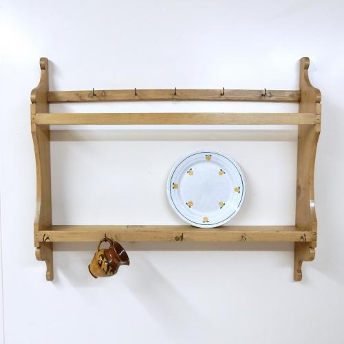 Antique Pine Wall Rack
