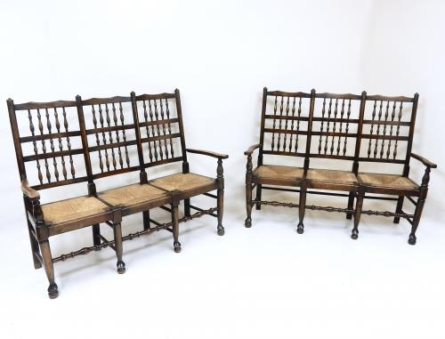 Edwardian Spindleback Settees