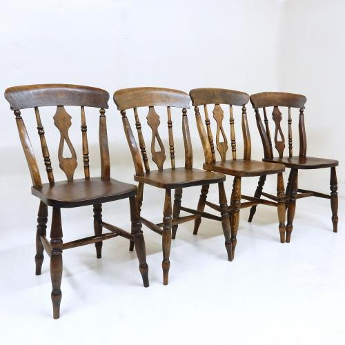 Antique Windsor Kitchen Dining Chairs