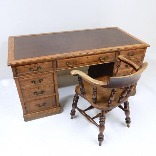 Oak Pedestal Desk