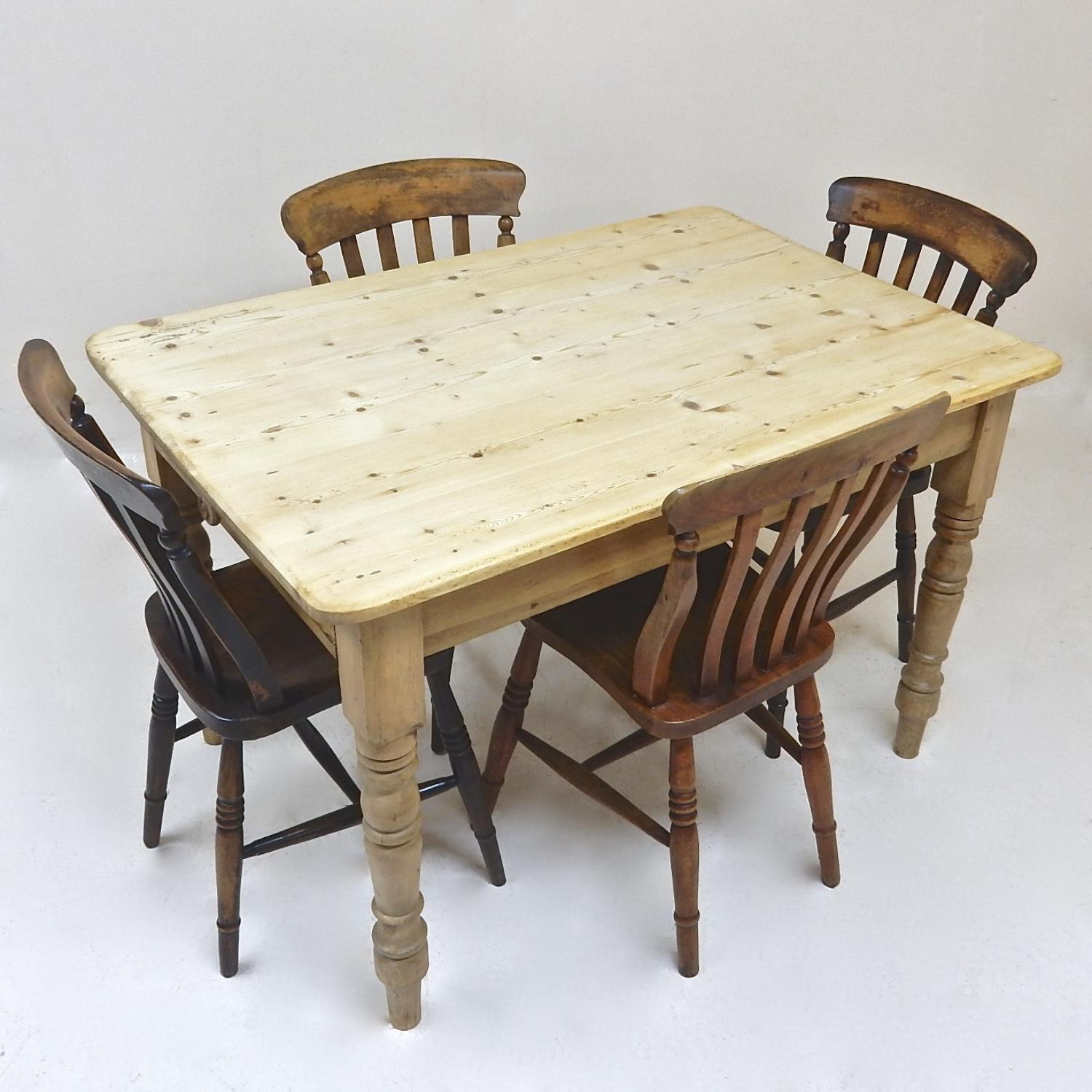 Pine Kitchen Table And Chairs Pine Kitchen Table In Tables And Chairs