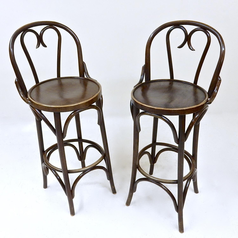 Pr Bentwood Bar Chairs