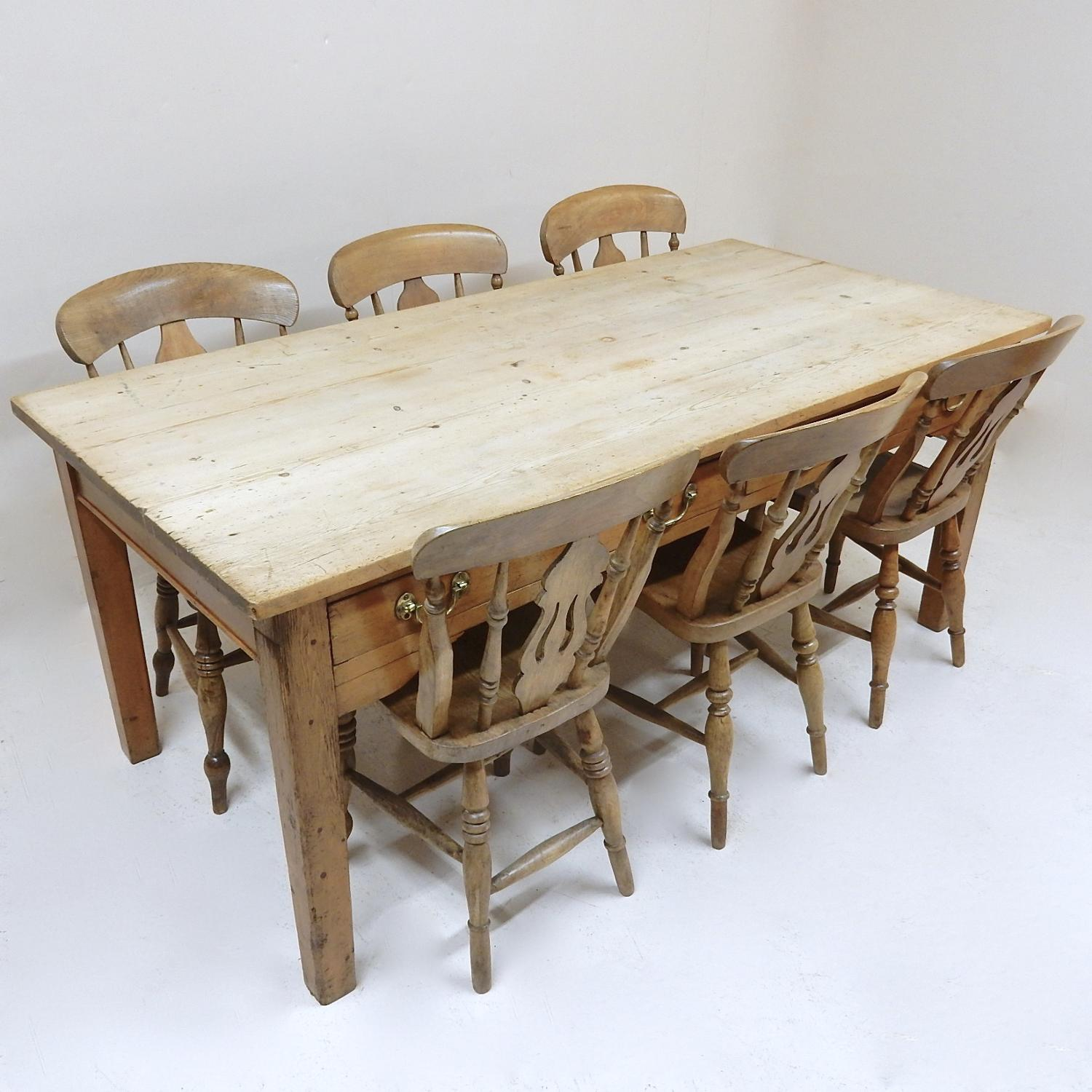 Vintage Farmhouse Kitchen Table In Tables And Chairs