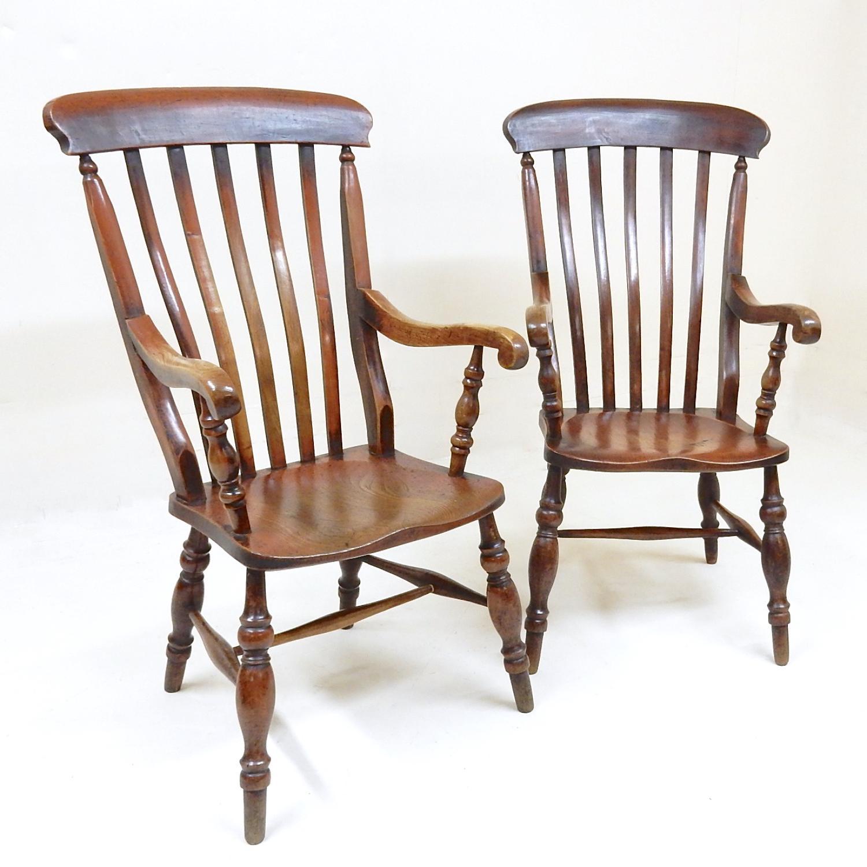 Pr Antique Windsor Armchairs
