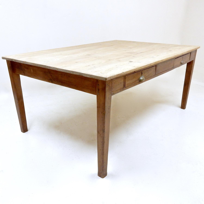 Edwardian Pine Kitchen Table