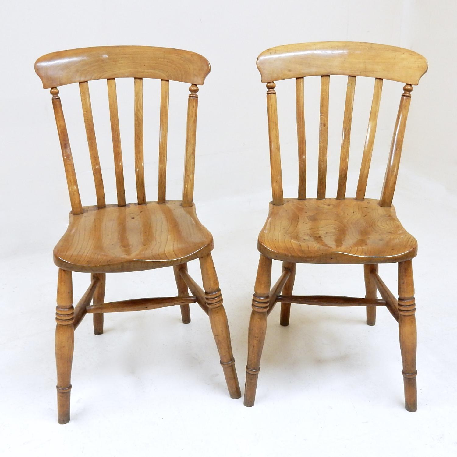 Pr Windsor Lathback Kitchen Chairs