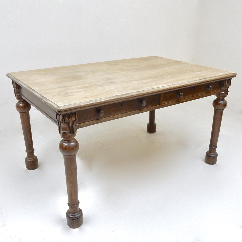 Antique Oak Kitchen Table