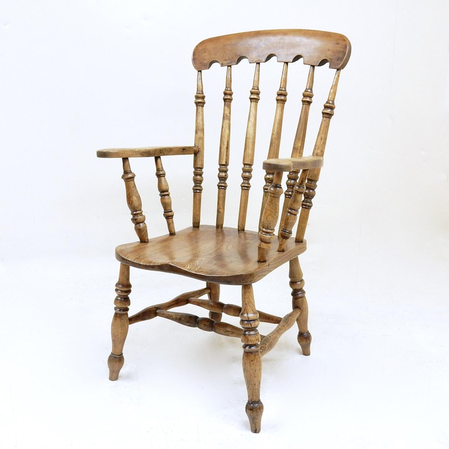 Large Antique Windsor Armchair