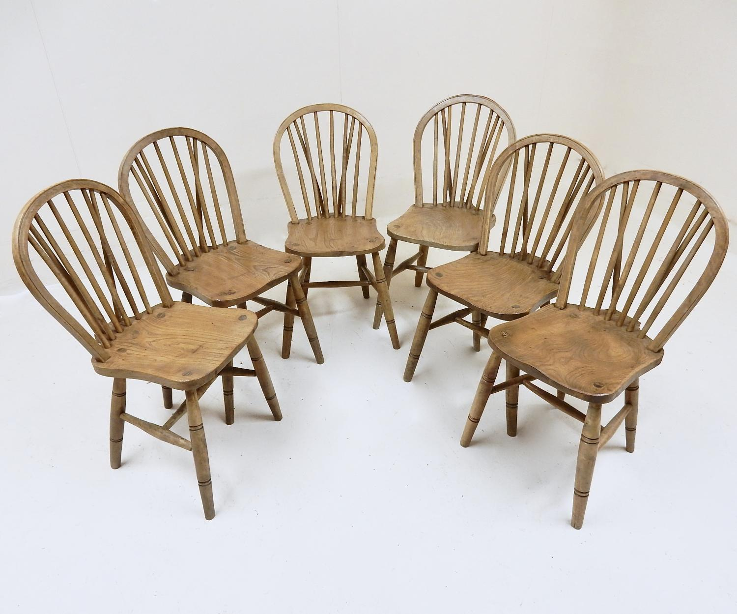 6x Windsor Kitchen Chairs