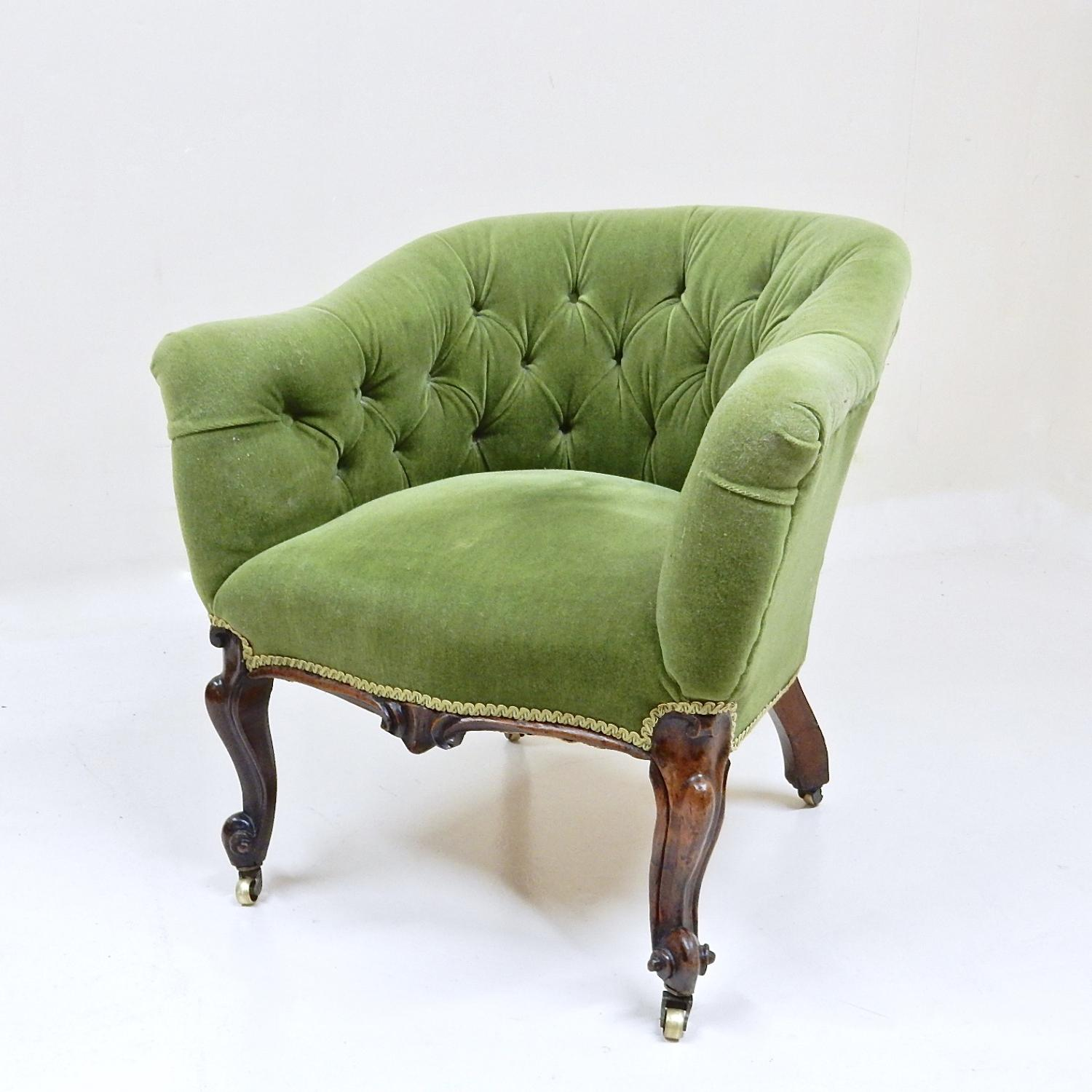 Victorian Tub Chair in Seating and Upholstery