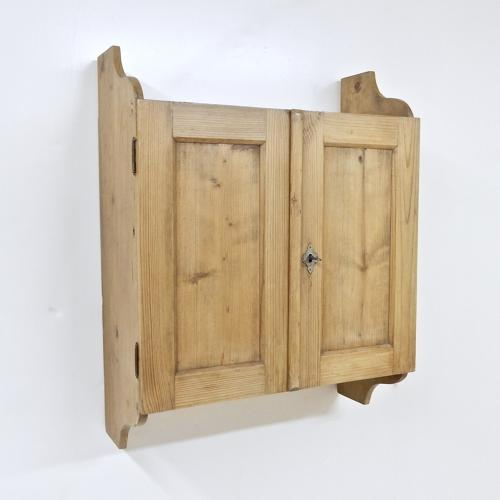 Antique Pine Wall Cupboard