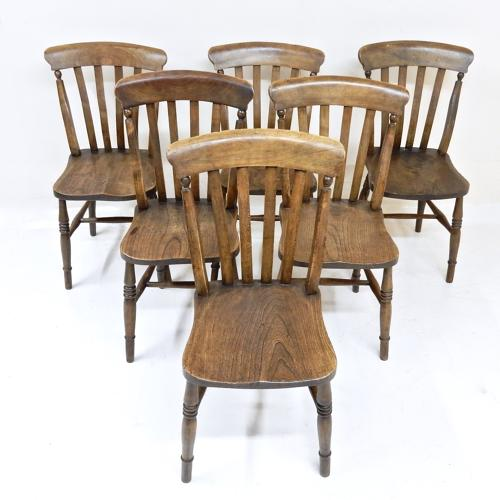 Set 6 Antique Country Kitchen Chairs