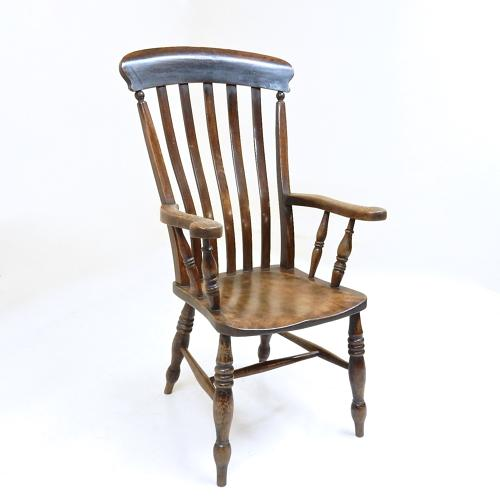 Antique Windsor Lathback Armchair