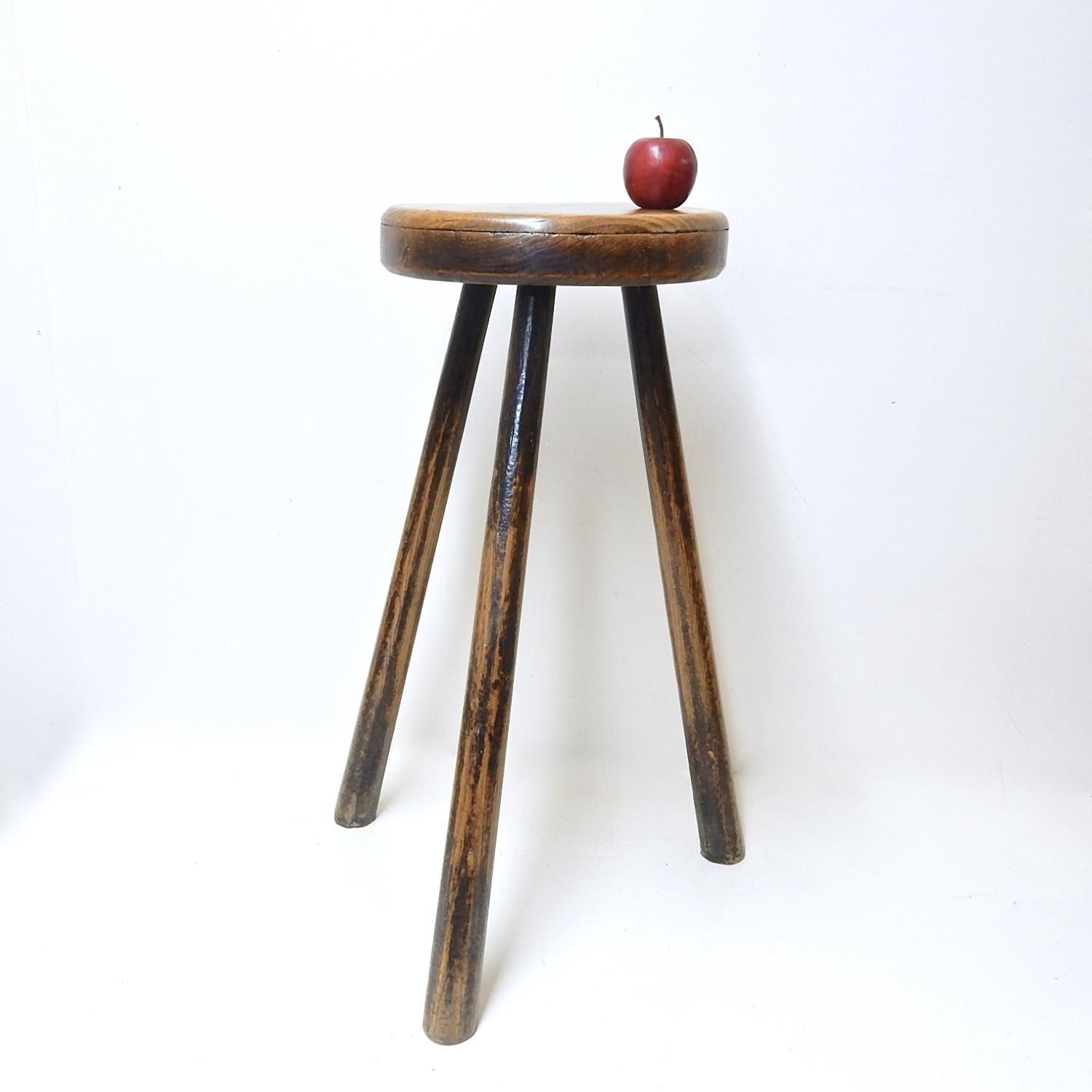 Tall Antique Stool