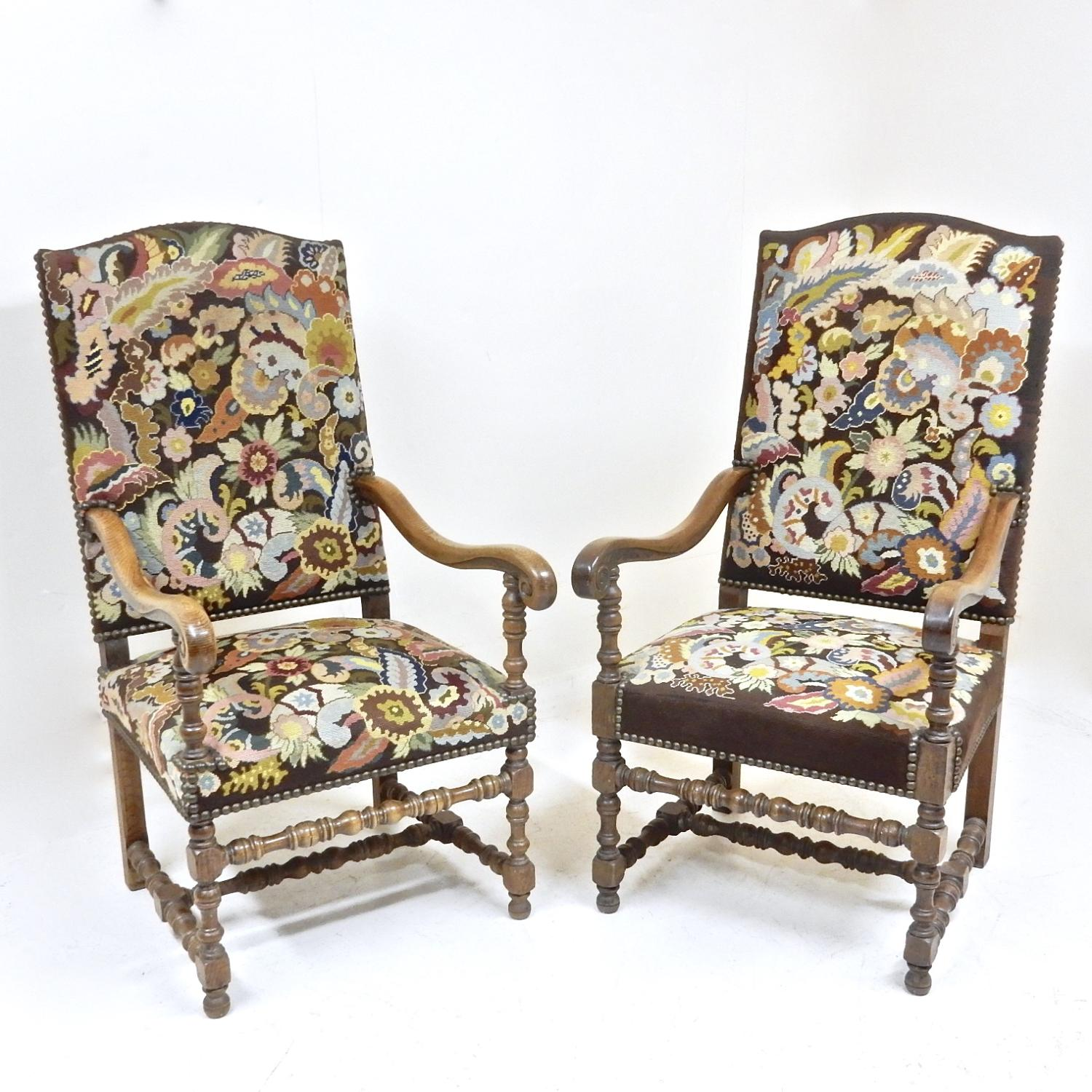 Antique Carolean Armchairs