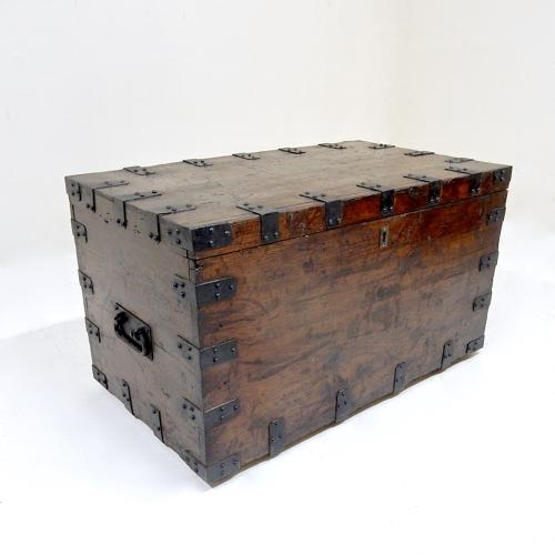 Antique Iron Bound Chest