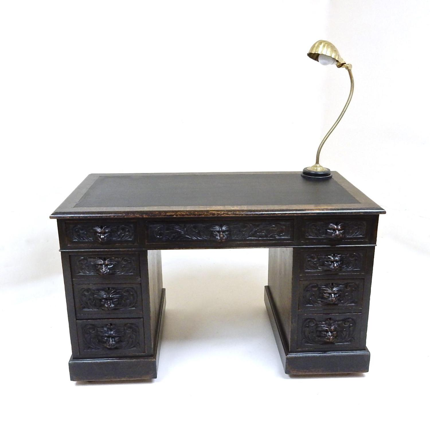 Small Antique Oak Desk