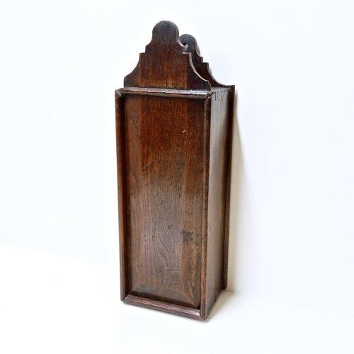 C18th Oak Candle Box