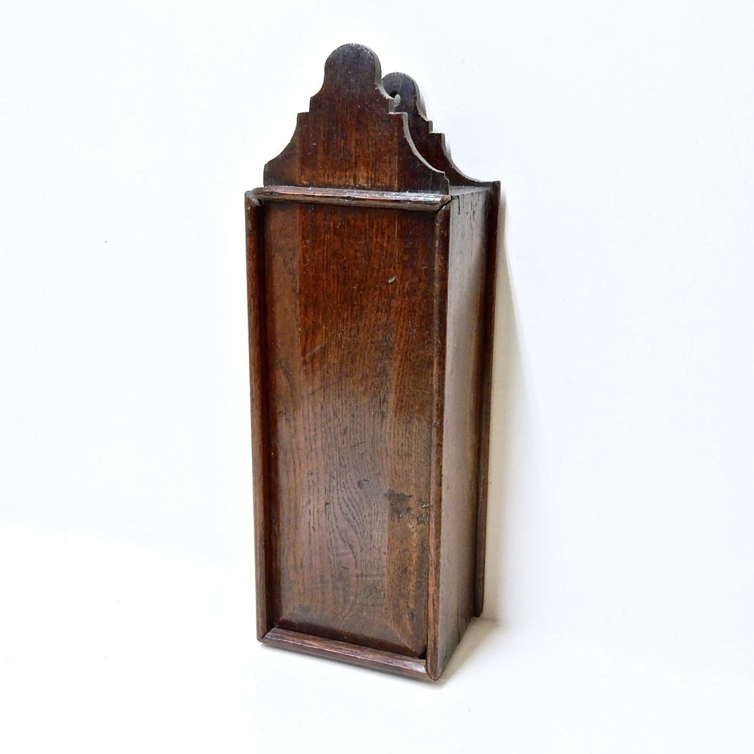 C18th Oak Candle Box
