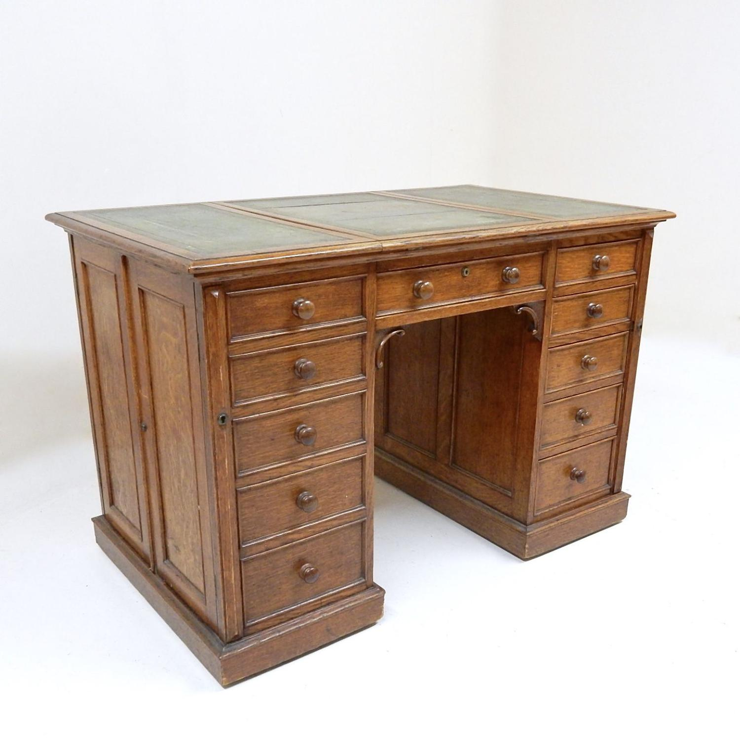 Small Victorian Oak Desk