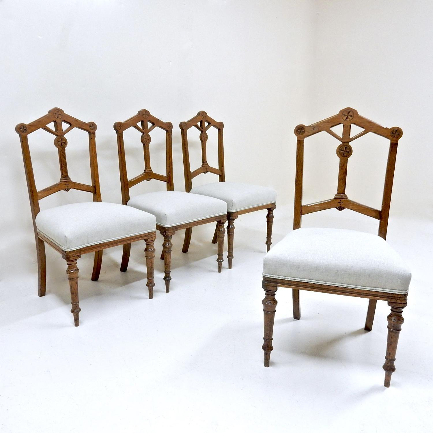 Gothic Revival Dining Chairs