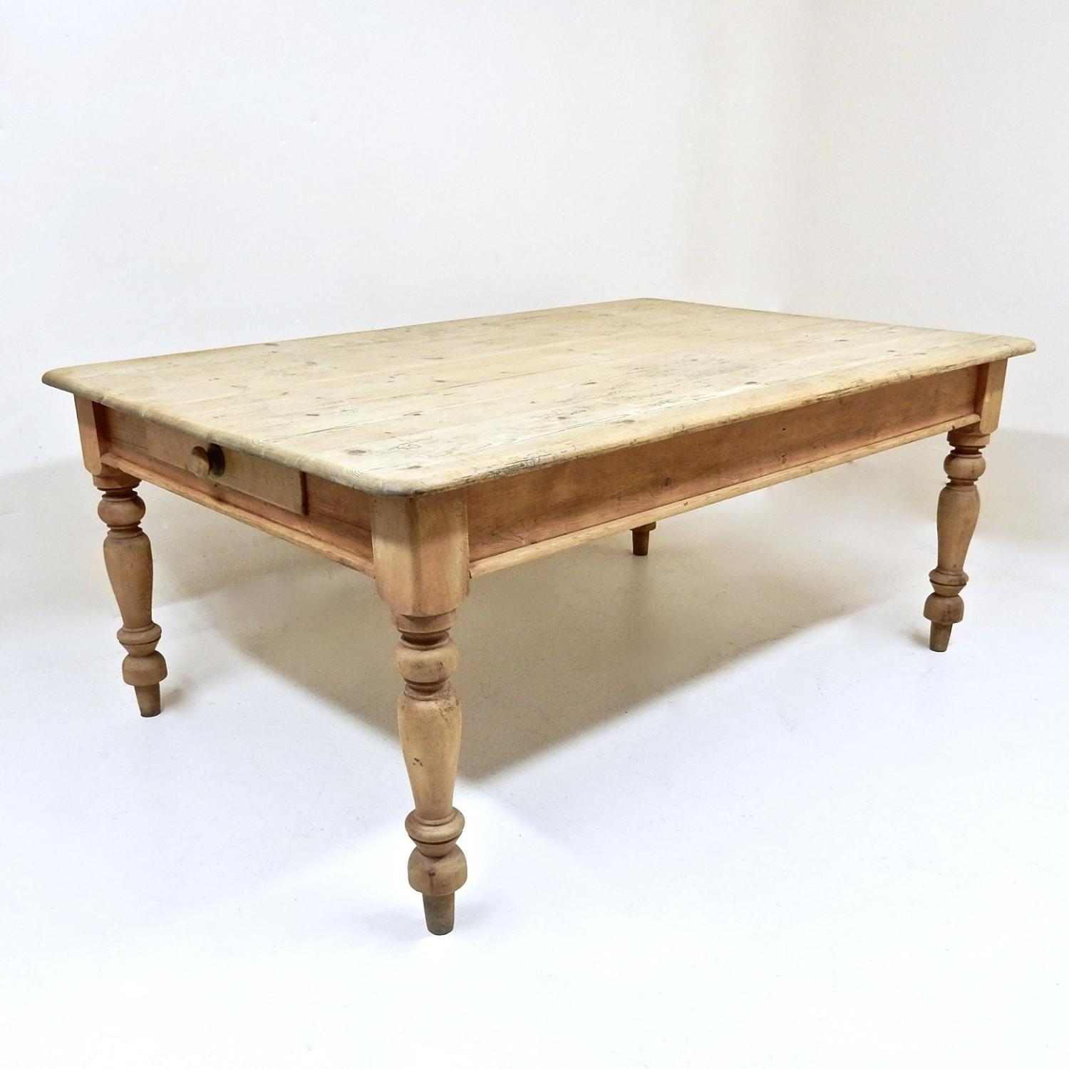 Antique Pine Farmhouse Table
