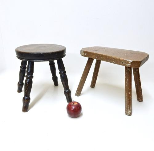 2x Small Country Stools