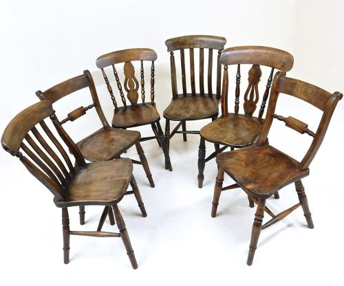 Assorted Antique Kitchen Chairs