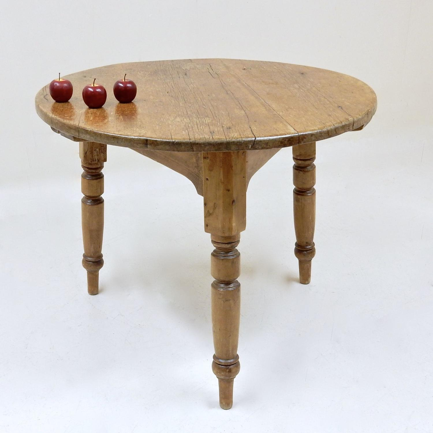 Large Antique Cricket Table