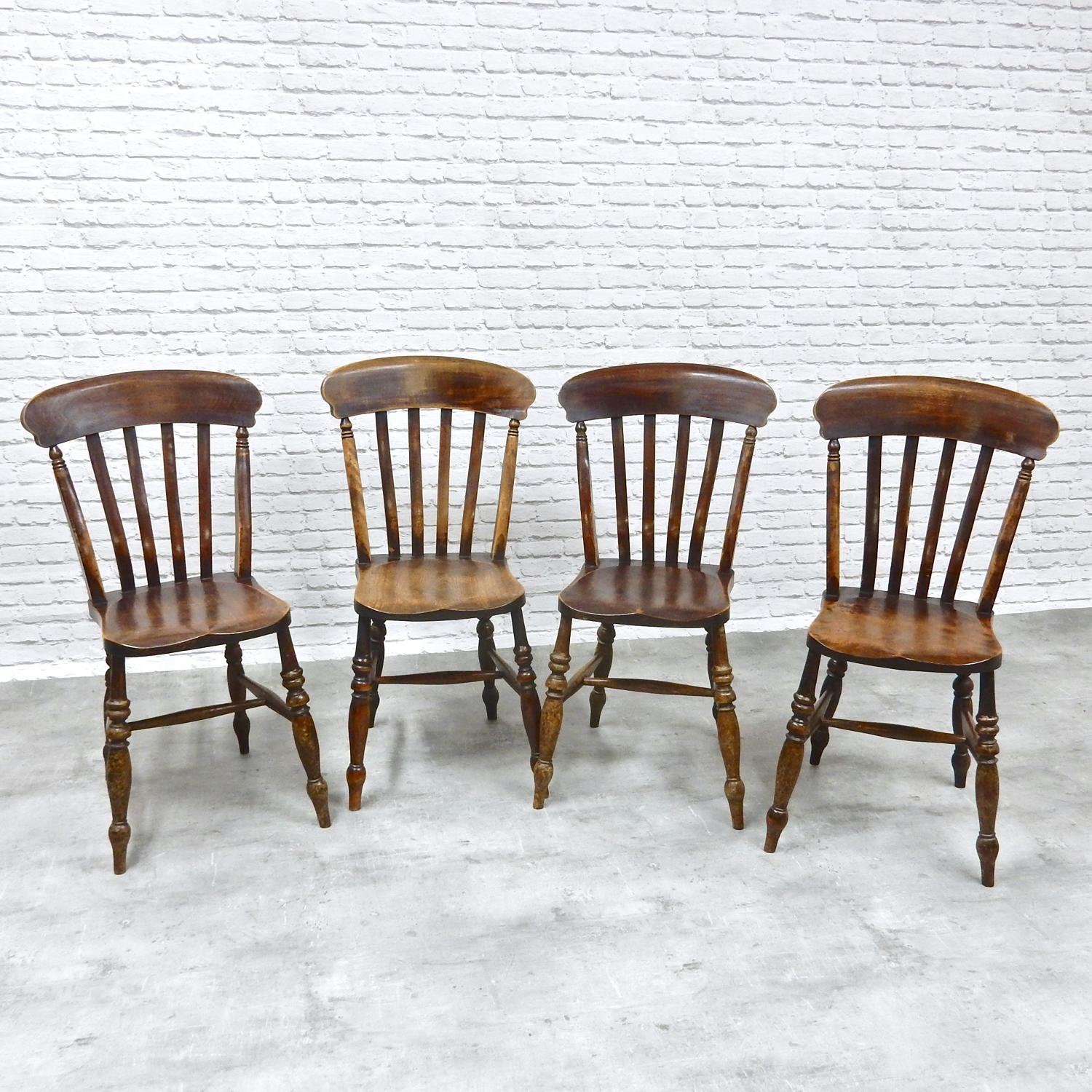 C19th Farmhouse Kitchen Chairs