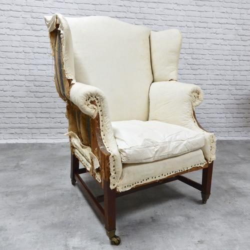 C19th Wing Armchair