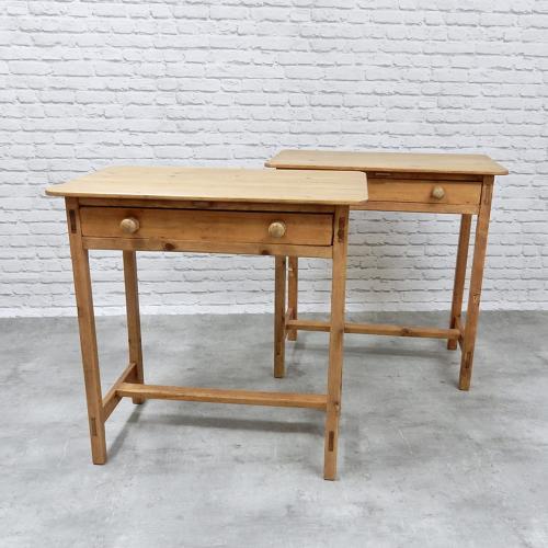 Pr Victorian Pine Side Tables