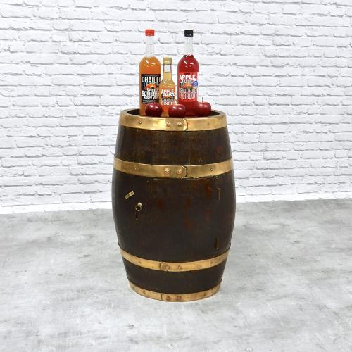 C19th Fitted Oak Barrel