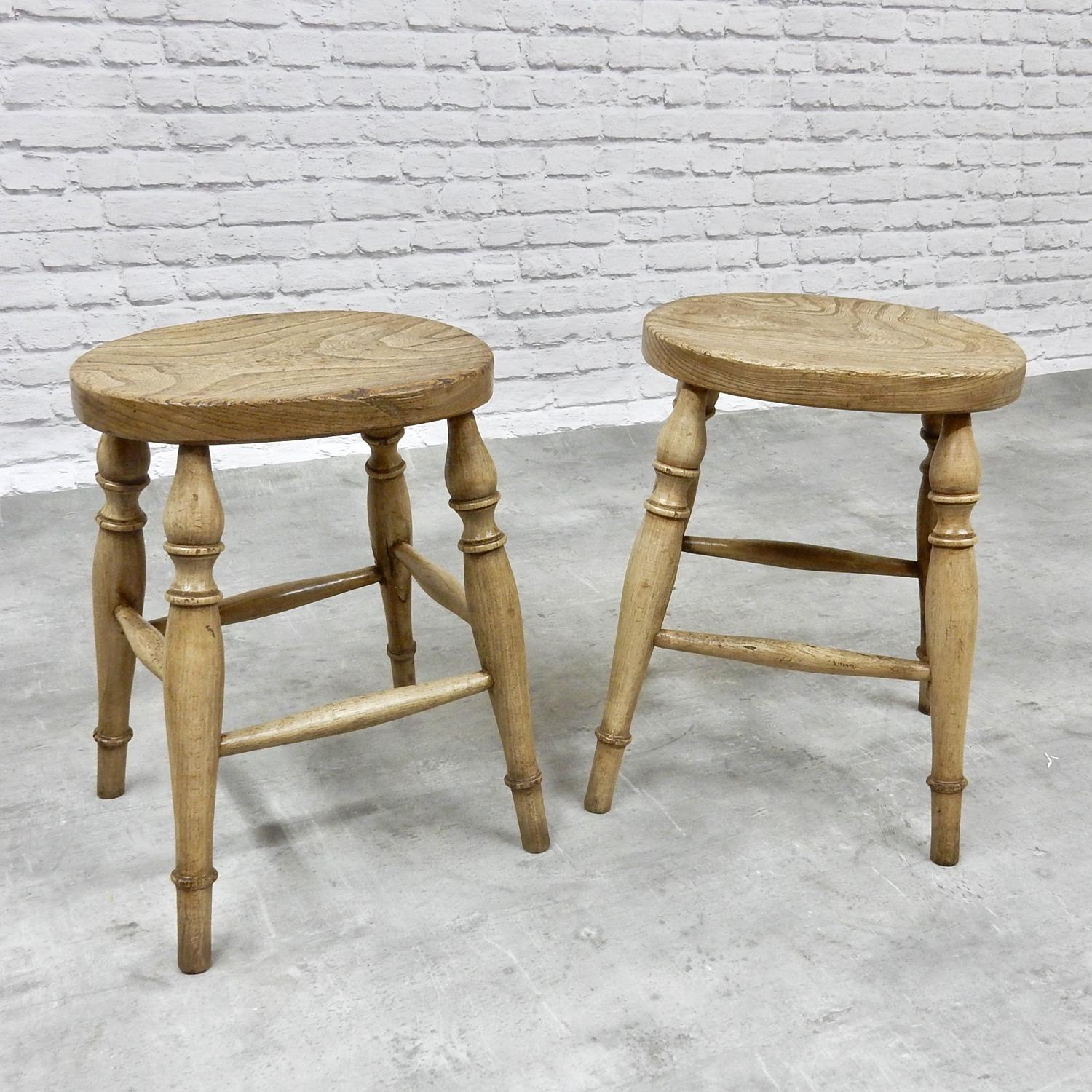 Pr Antique Stools