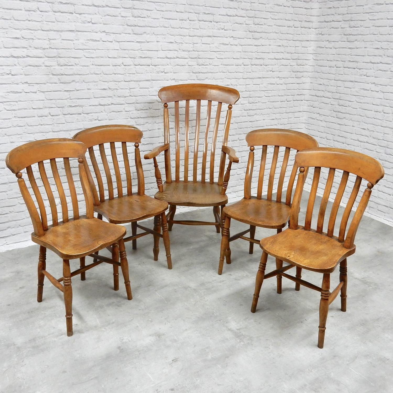 Windsor Chair Set 4+1